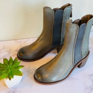 Anthropologie Leather Ankle Boot Bootie New 7